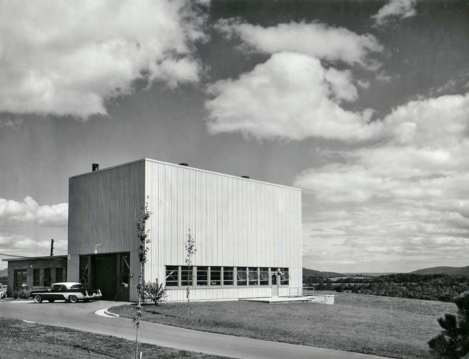 Original PSBR building after completion of construction in 1954